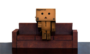 brown leather sofa paper toys